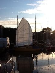 Candice-Marie am Steg vom Obereider Yachtservice
